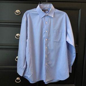 Michael Kors Men's Dress Shirt Blue